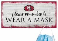 San Francisco 49ers Please Wear Your Mask Sign