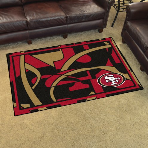 San Francisco 49ers Quicksnap 4' x 6' Area Rug