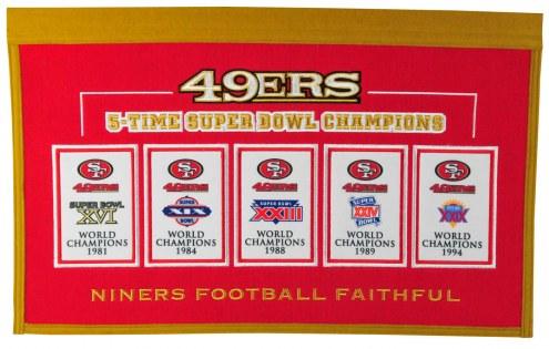 San Francisco 49ers Rafter Raiser Banner