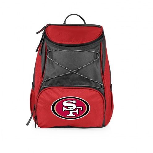 San Francisco 49ers Red PTX Backpack Cooler