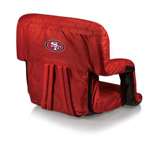 San Francisco 49ers Red Ventura Portable Outdoor Recliner