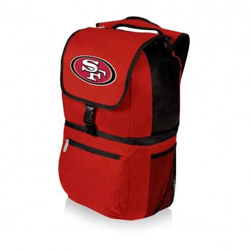 San Francisco 49ers Red Zuma Cooler Backpack