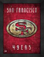 San Francisco 49ers Retro Logo Map Framed Print
