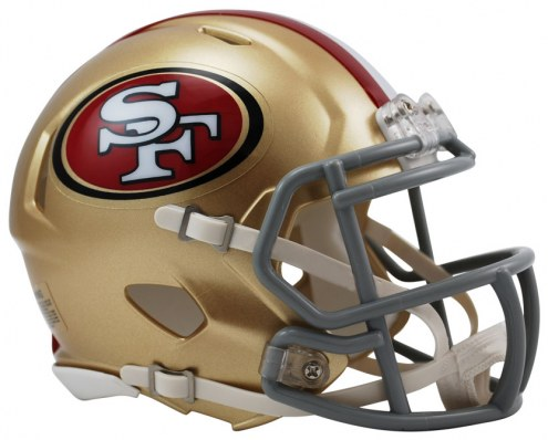 San Francisco 49ers Riddell Speed Mini Collectible Football Helmet