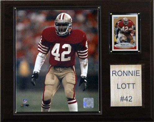 "San Francisco 49ers Ronnie Lott 12 x 15"" Player Plaque"