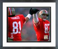San Francisco 49ers Russ Francis & Dwight Clark Super Bowl XIX 1985 Action Framed Photo