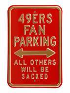 San Francisco 49ers Sacked Parking Sign