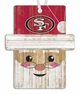San Francisco 49ers Santa Ornament