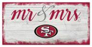San Francisco 49ers Script Mr. & Mrs. Sign