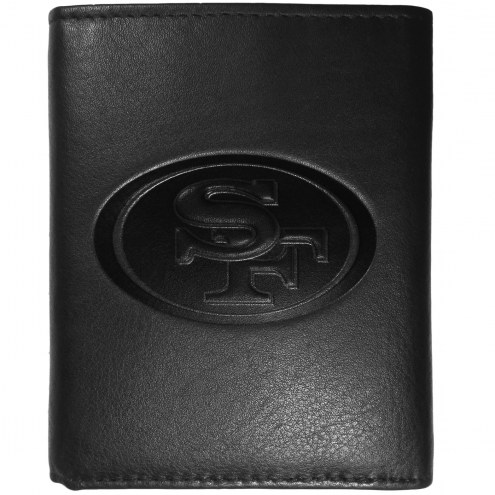 San Francisco 49ers Embossed Leather Tri-fold Wallet