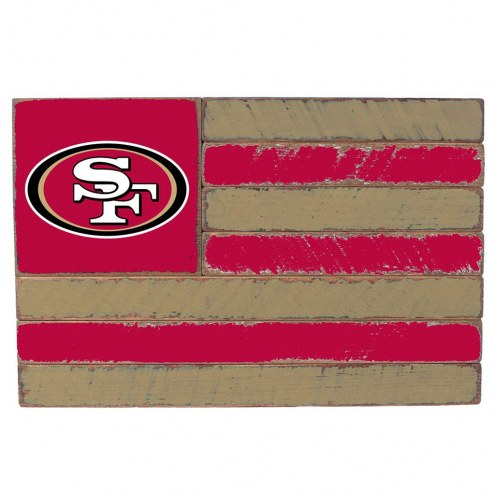 San Francisco 49ers Small Flag Wall Art