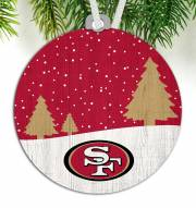San Francisco 49ers Snow Scene Ornament