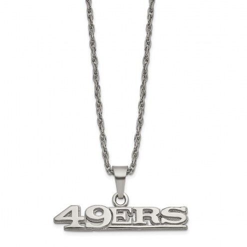 San Francisco 49ers Stainless Steel Pendant on Chain