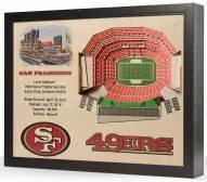 San Francisco 49ers 25-Layer StadiumViews 3D Wall Art