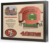 San Francisco 49ers 25-Layer StadiumViews 3D Wall Art