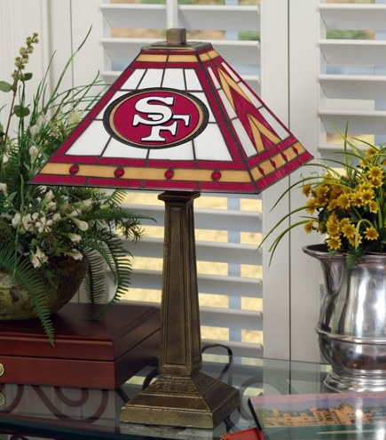 San Francisco 49ers Stained Glass Mission Table Lamp
