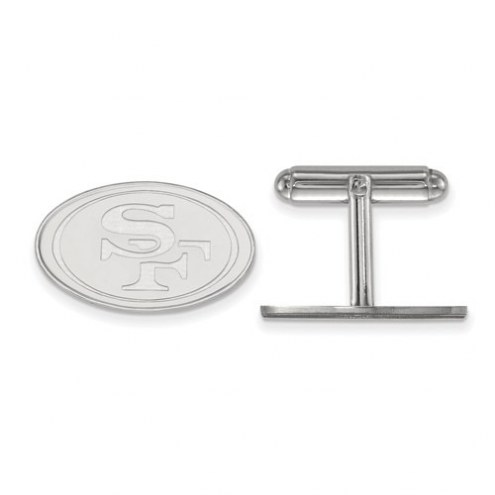 San Francisco 49ers Sterling Silver Cuff Links