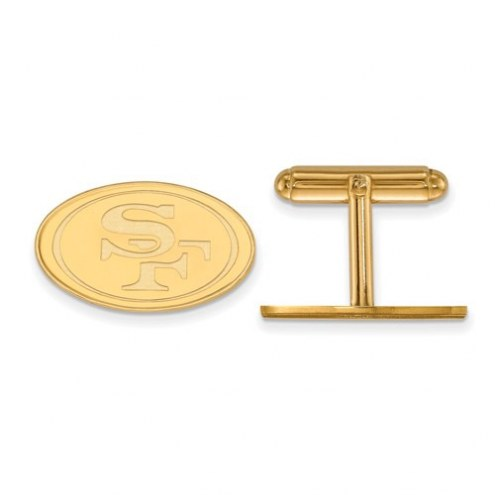 San Francisco 49ers Sterling Silver Gold Plated Cuff Links