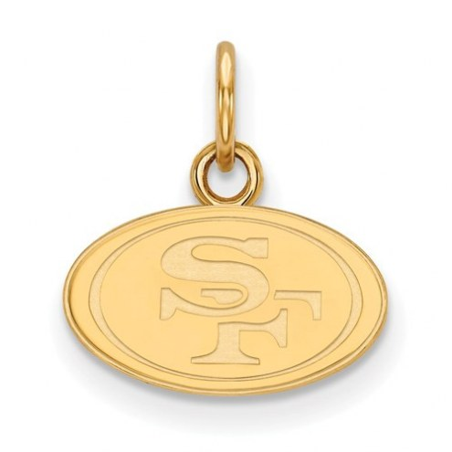 San Francisco 49ers Sterling Silver Gold Plated Extra Small Pendant