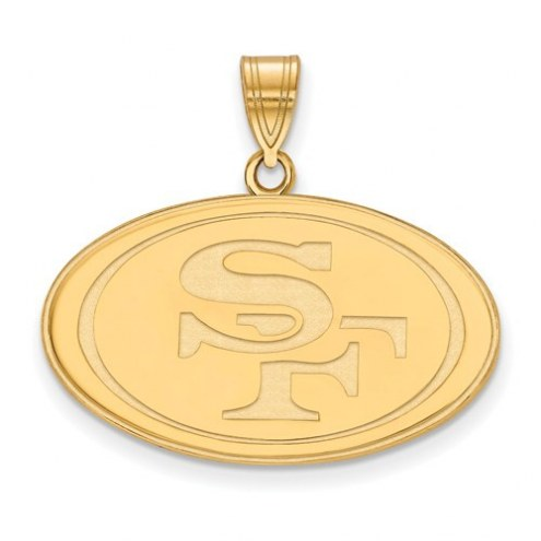 San Francisco 49ers Sterling Silver Gold Plated Large Pendant