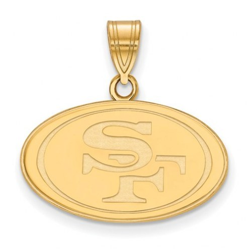San Francisco 49ers Sterling Silver Gold Plated Medium Pendant