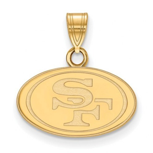 San Francisco 49ers Sterling Silver Gold Plated Small Pendant