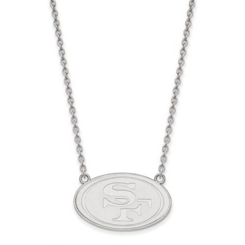 San Francisco 49ers Sterling Silver Large Pendant with Necklace