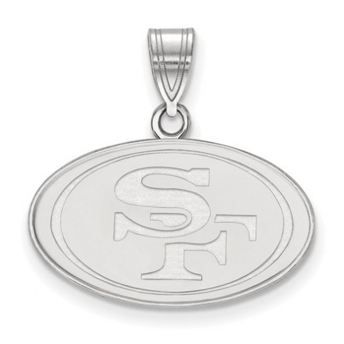 San Francisco 49ers Sterling Silver Medium Pendant