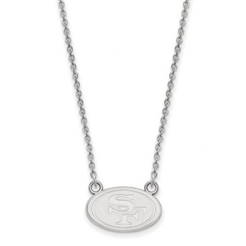 San Francisco 49ers Sterling Silver Small Pendant with Necklace