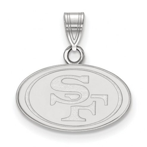 San Francisco 49ers Sterling Silver Small Pendant