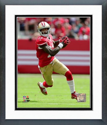 San Francisco 49ers Steve Johnson Action Framed Photo