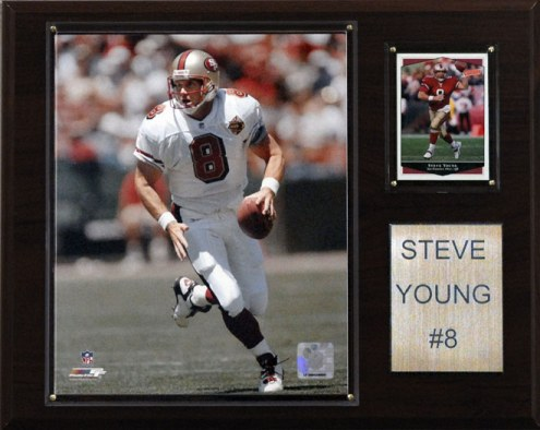"San Francisco 49ers Steve Young 12 x 15"" Player Plaque"