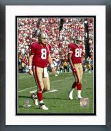 San Francisco 49ers Steve Young & Jerry Rice Framed Photo