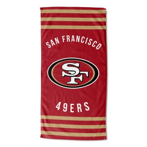 San Francisco 49ers Stripes Beach Towel