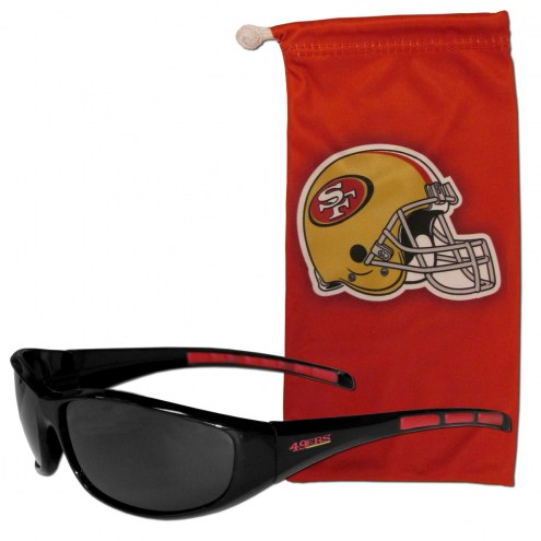 San Francisco 49ers Sunglasses and Bag Set