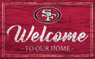 San Francisco 49ers Team Color Welcome Sign