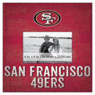 "San Francisco 49ers Team Name 10"" x 10"" Picture Frame"
