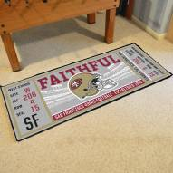 San Francisco 49ers Ticket Runner Rug
