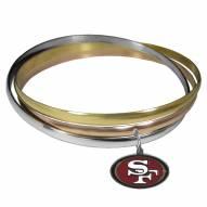 San Francisco 49ers Tri-color Bangle Bracelet