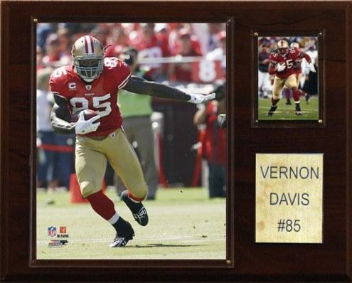 """San Francisco 49ers Vernon Davis 12 x 15"""" Player Plaque"""