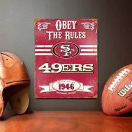 San Francisco 49ers Vintage Metal Sign