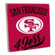 San Francisco 49ers Vintage Square Wall Sign
