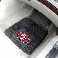 San Francisco 49ers Vinyl 2-Piece Car Floor Mats
