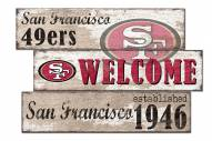 San Francisco 49ers Welcome 3 Plank Sign