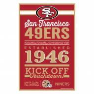 San Francisco 49ers Established Wood Sign