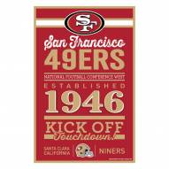 San Francisco 49ers Established Wood Sign