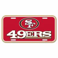 San Francisco 49ers License Plate