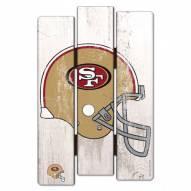 San Francisco 49ers Wood Fence Sign