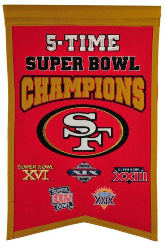 San Francisco 49ers Champs Banner
