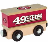 San Francisco 49ers Wood Box Car Train